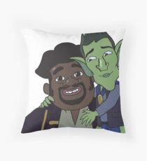 HarmonQuest: Rib Sanchez and Boneweevil Throw Pillow
