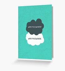 Wifi Password Greeting Card