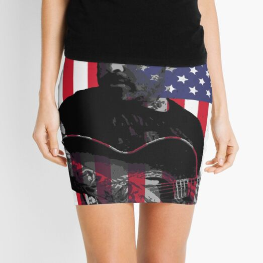 Am I The Only One Aaron Lewis Vintage America Flag Mini Skirt