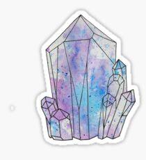 Graphic Galaxy Gem, Crystal Illustration Sticker