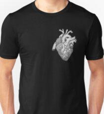 Anatomische Herz-Tinten-Illustration Slim Fit T-Shirt