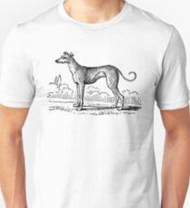 Vintage Greyhound - woodcut style Unisex T-Shirt