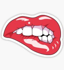 Lip bite Sticker