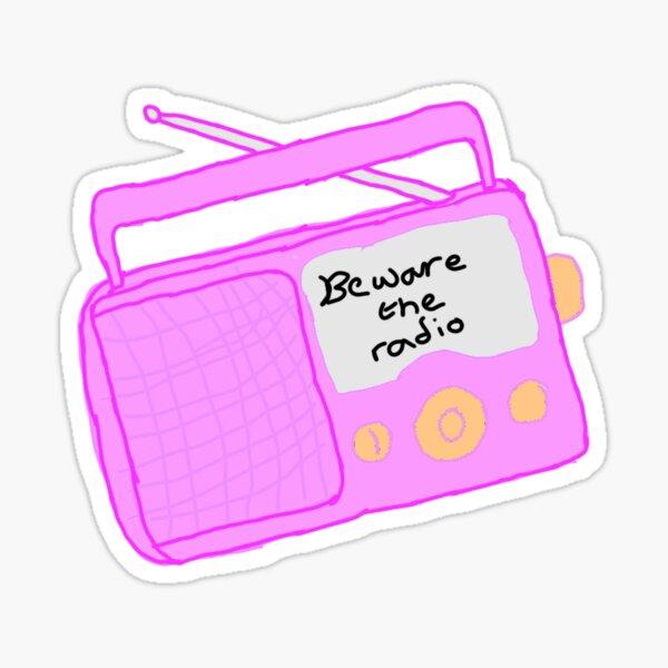 Beware! The Radio - Portable Radio (Momojaja) Sticker