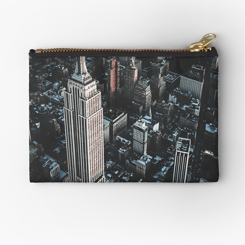 empire state building in nyc Zipper Pouch
