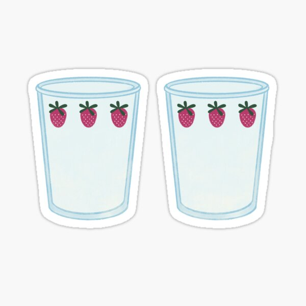 Two strawberry cups Sticker