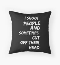 I am a photographer Throw Pillow