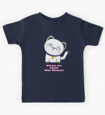 Angels With Whiskers Kids Tee