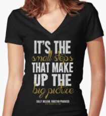 Small Steps Big Picture T-shirts & Homewares Women's Fitted V-Neck T-Shirt