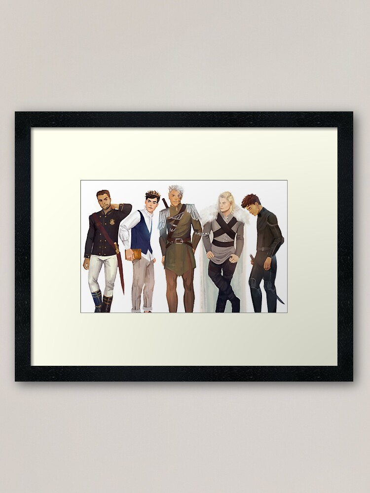 Alternate view of Men from Throne of Glass Framed Art Print