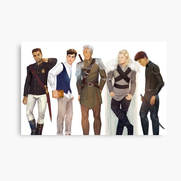Men from Throne of Glass Canvas Print
