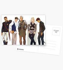 Männer aus Thron aus Glas Postkarten