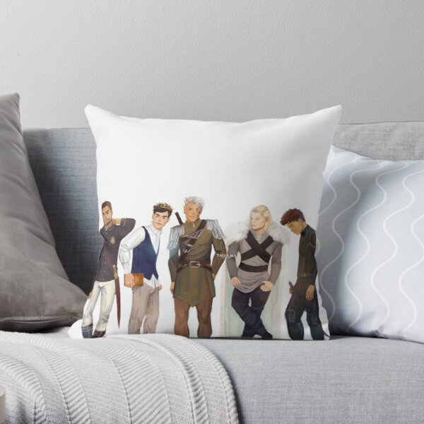 Men from Throne of Glass Throw Pillow