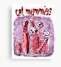 cat mummies Canvas Print