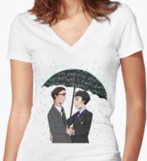 Gotham Women's Fitted V-Neck T-Shirt