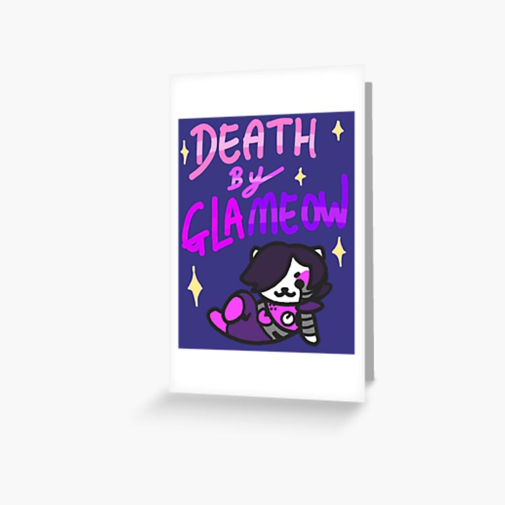 Tod von Glameow Grußkarte