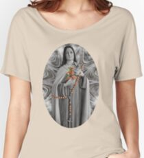"""✿♥‿♥✿ST. THERESE OF LISIEUX-ALSO KNOWN AS """"LITTLE FLOWER"""" TEE SHIRT✿♥‿♥✿ Women's Relaxed Fit T-Shirt"""
