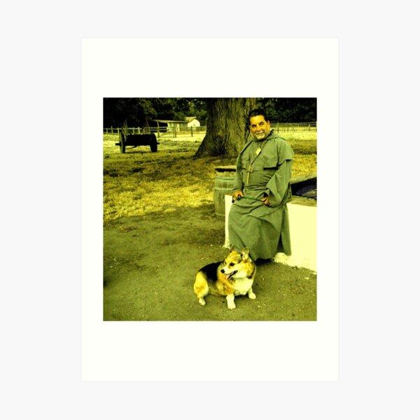 Friar & His Dog Art Print