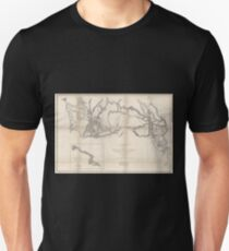 0075 Railroad Maps Rocky Mountains to Puget Sound from explorations and T-Shirt