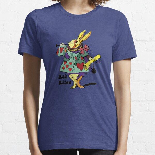 Ask Alice - The White Rabbit 2 - Alices Adventures in Wonderland Essential T-Shirt