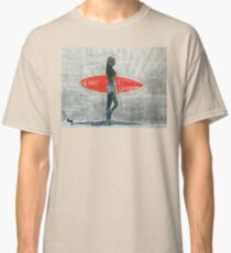 Girl and surfing.  Classic T-Shirt