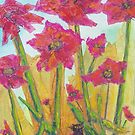 Chatte et Fleurs (mixed media) by Niki Hilsabeck