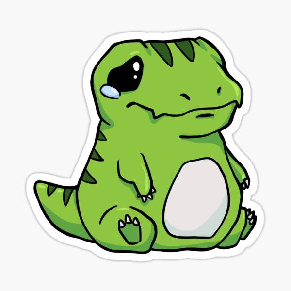 Sad Baby T-Rex  Sticker