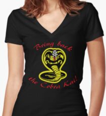 Bring Back the Cobra Kai! Women's Fitted V-Neck T-Shirt