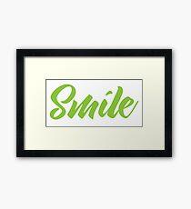 SMILE (in green) Framed Print