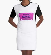 Absolutely - Gia Gunn License Plate  Graphic T-Shirt Dress