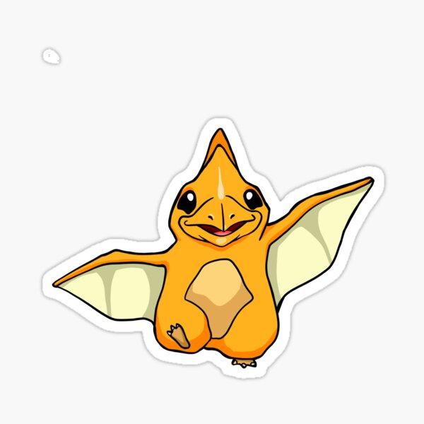 Nettes Baby-Flugsaurier Sticker