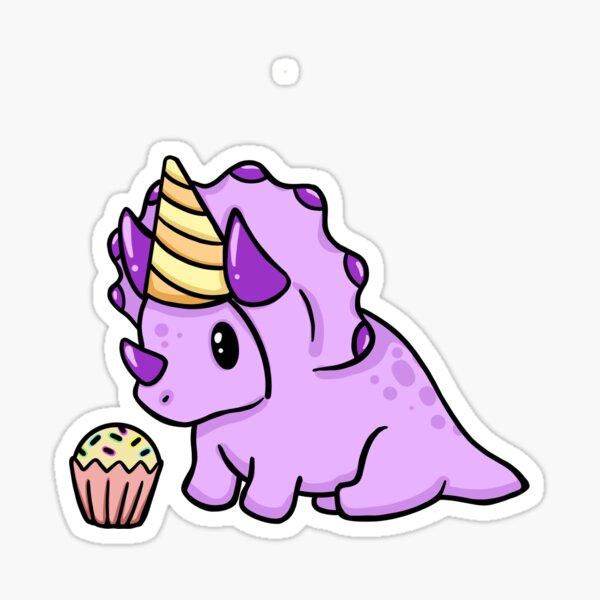 ¡Feliz cumpleaños bebé Triceratops! Pegatina