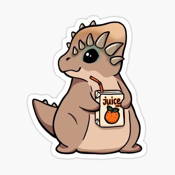 Saft trinkender Pachycephalosaurus Sticker