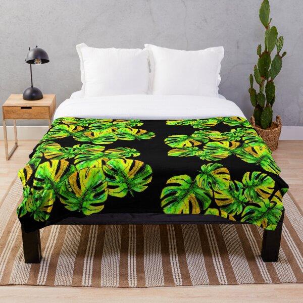 Jungle Leaves Throw Blanket