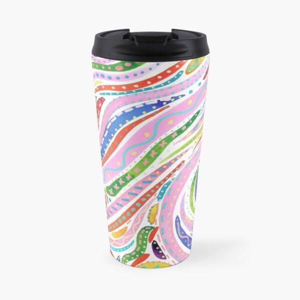 Mambo Mayhem Abstract Print Travel Mug