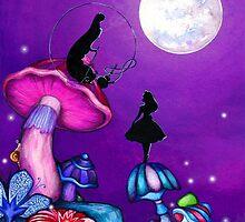 Alice in Wonderland and Caterpillar by Annya Kai