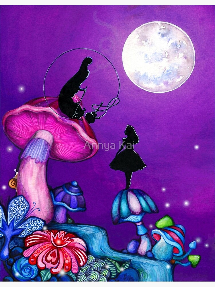 Alice in Wonderland and Caterpillar by ClearJadeStudio