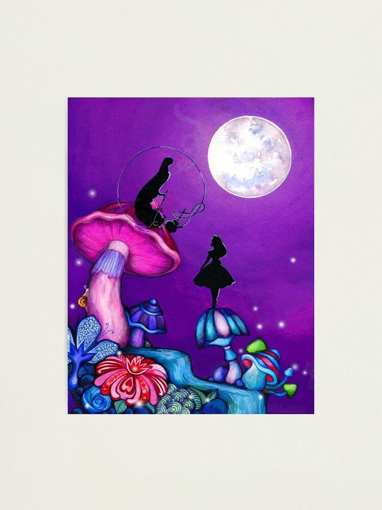 Alternate view of Alice in Wonderland and Caterpillar Photographic Print
