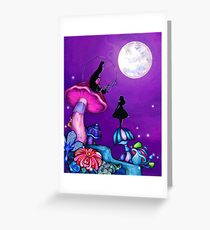 Alice in Wonderland and Caterpillar Greeting Card