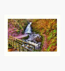 Glenoe Waterfall Art Print