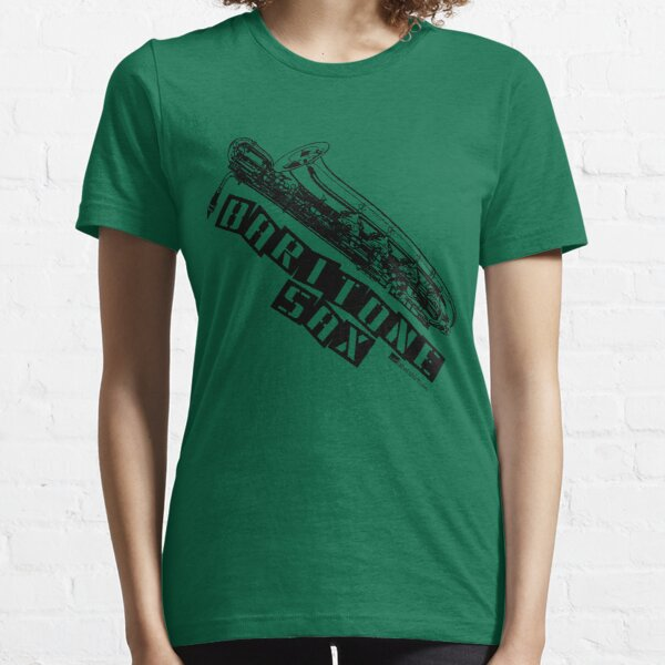 Label Me A Baritone Saxophone (Black Lettering) Essential T-Shirt