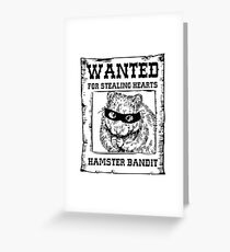 Hamster Bandit Greeting Card