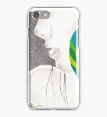 Psichedelic Green Hairs iPhone Case/Skin