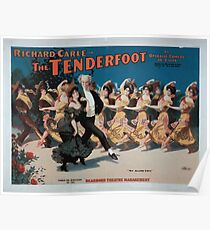 Performing Arts Posters Richard Carle in The tenderfoot an operatic comedy in acts book by Richard Carle music by HL Heartz 0957 Poster