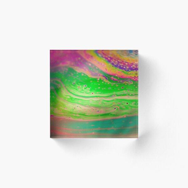Rainbow Pattern Acrylic Block
