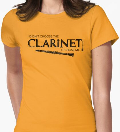 I Didn't Choose The Clarinet (Black Lettering) T-Shirt