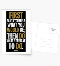 Do What You Have To Do T-shirts & Homewares Postcards