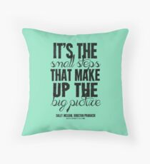 Small Steps Big Picture Black Text T-shirts & Homewares Throw Pillow