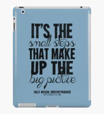 Small Steps Big Picture Black Text T-shirts & Homewares iPad Case/Skin