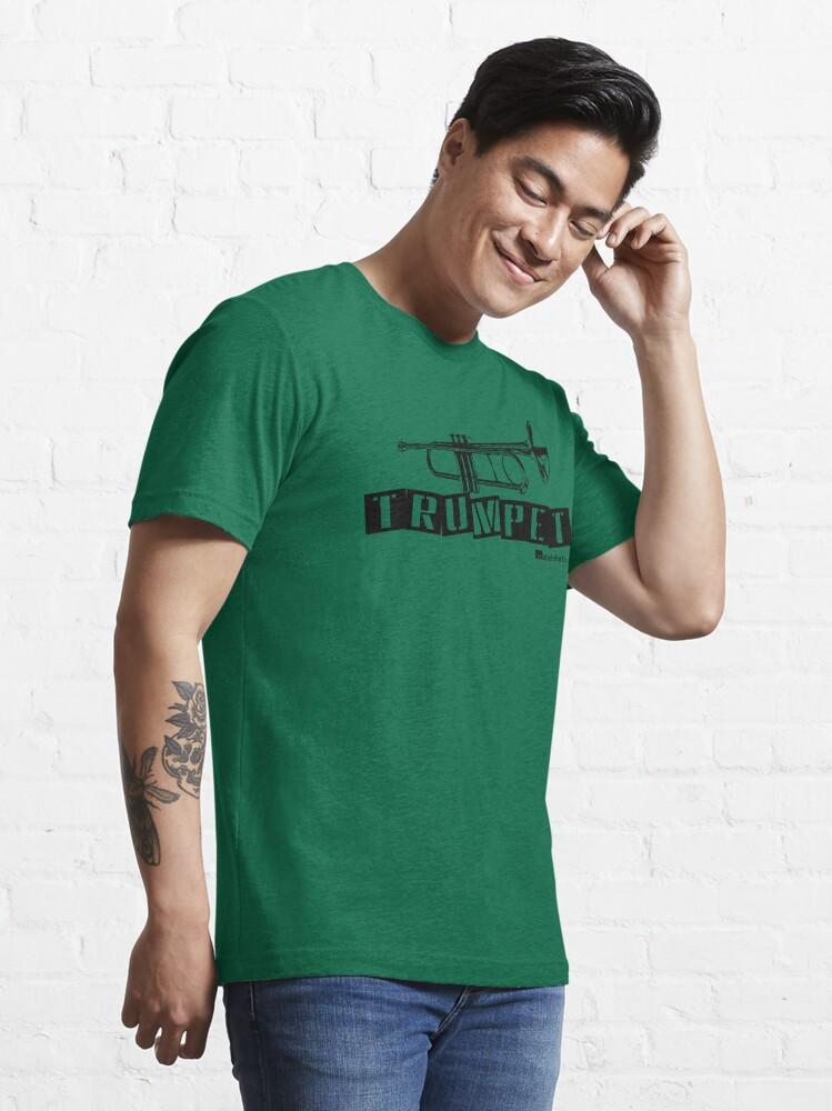 Alternate view of Label Me A Trumpet (Black Lettering) Essential T-Shirt